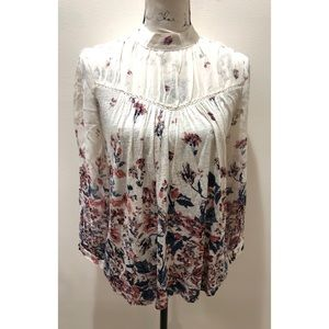 Lucky Brand Floral Blouse Size XS